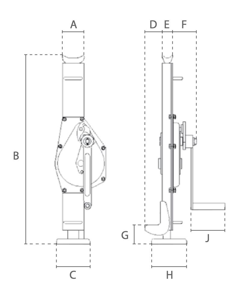 DTDK technische tekening