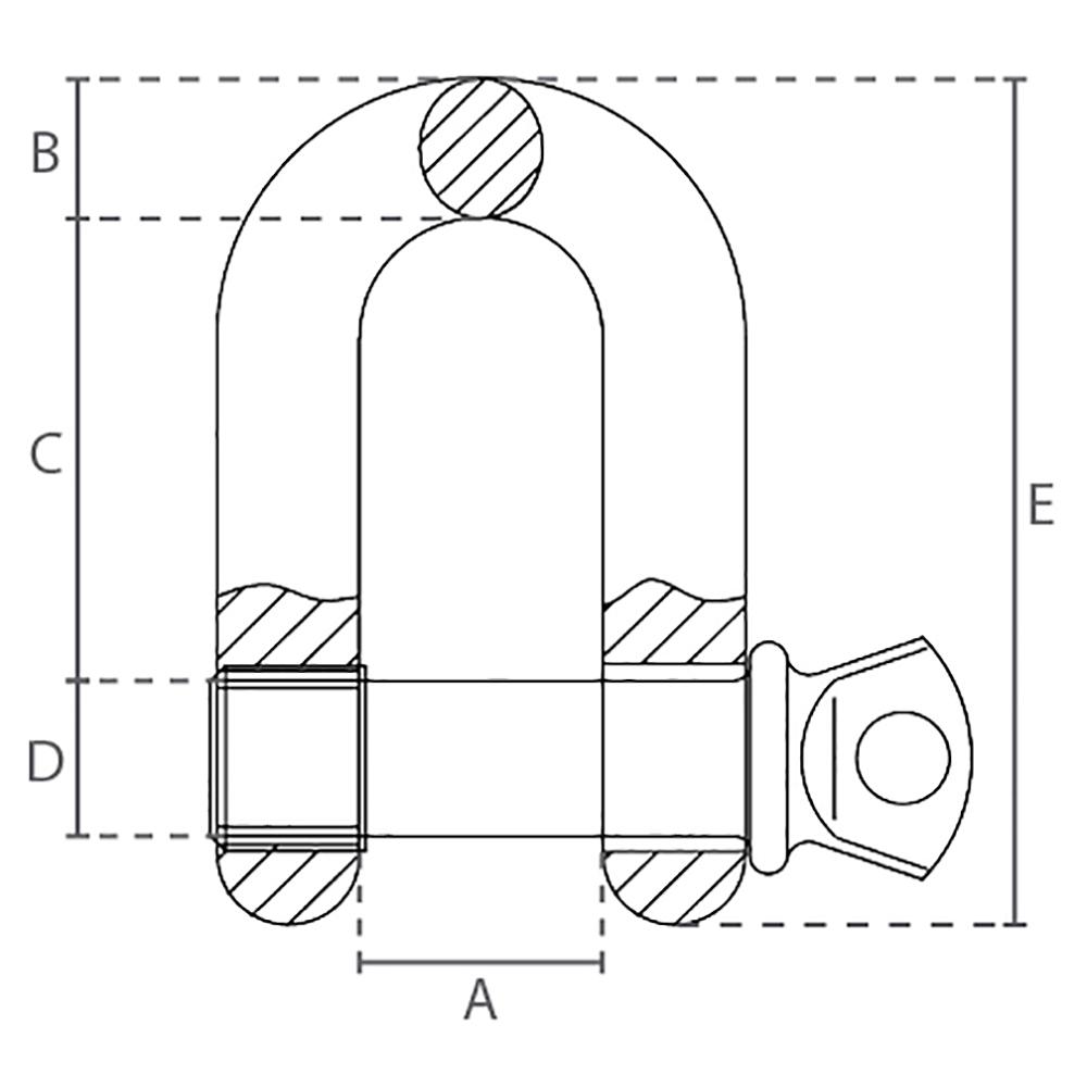 Technische tekening D-sluiting
