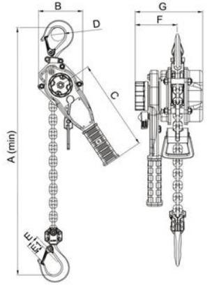 PRE-1 technische tekening