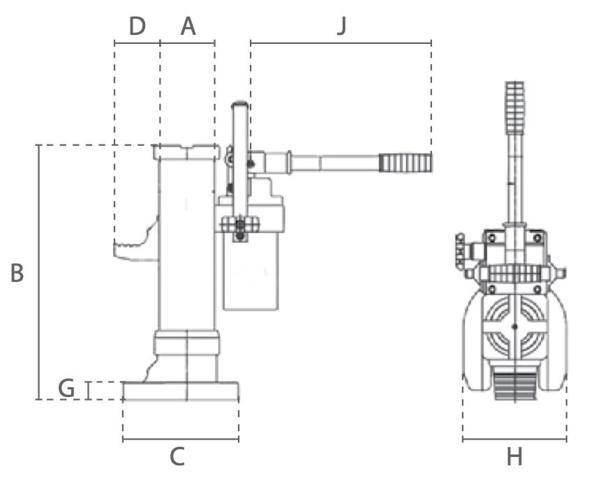 Delta Hydraulische Machineheffer