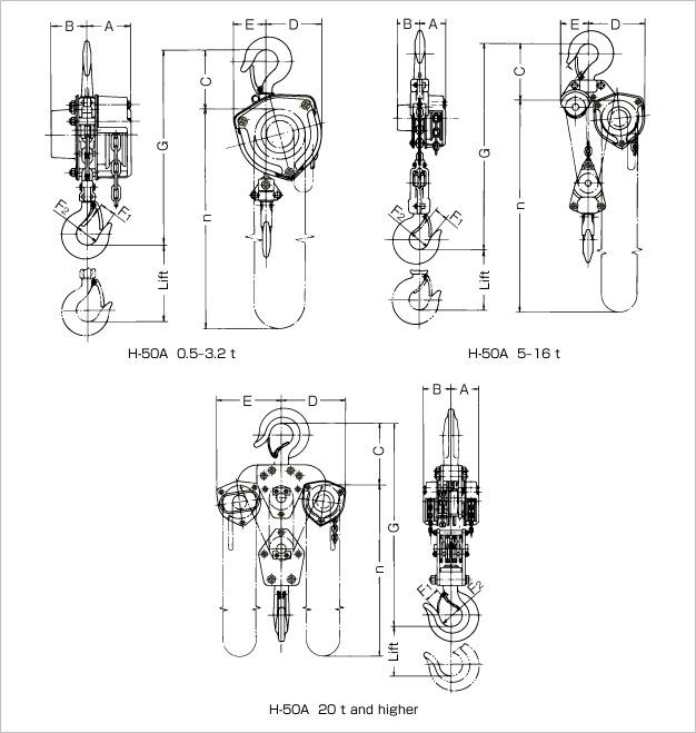 H-50A technische tekening