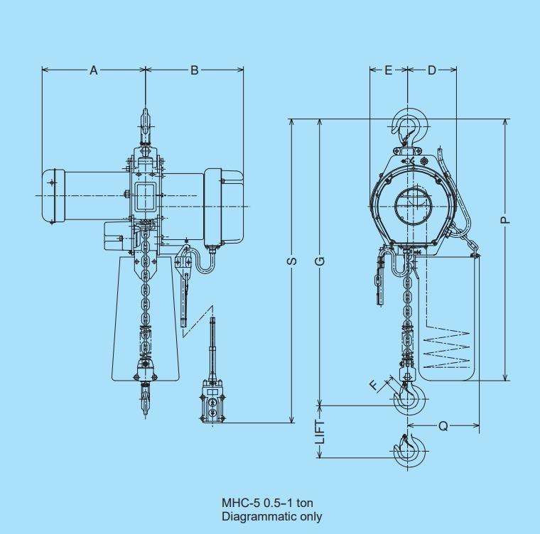 MHC-5 technische tekening