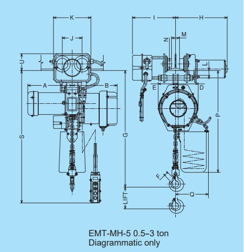 MHE-5 technische tekening