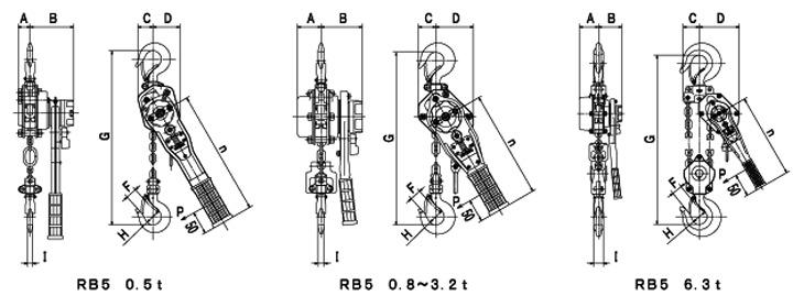 RB-5 technische tekening