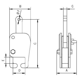 TCR technische tekening