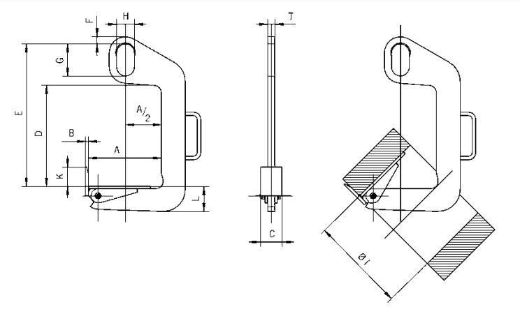 TCS technische tekening