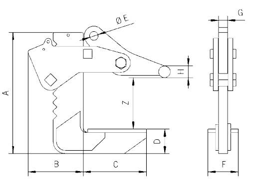 TGF technische tekening