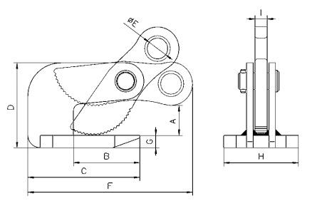 THK technische tekening