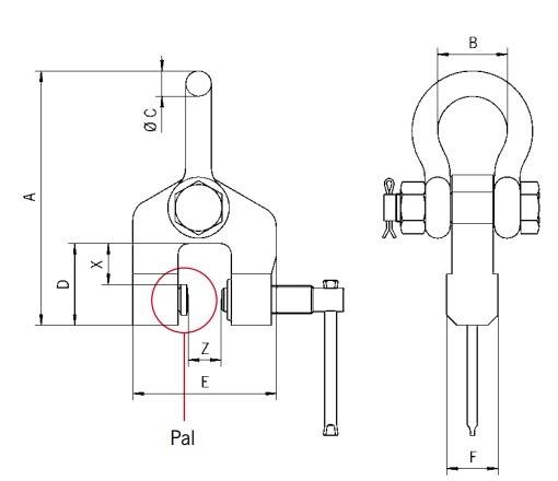 TSH technische tekening