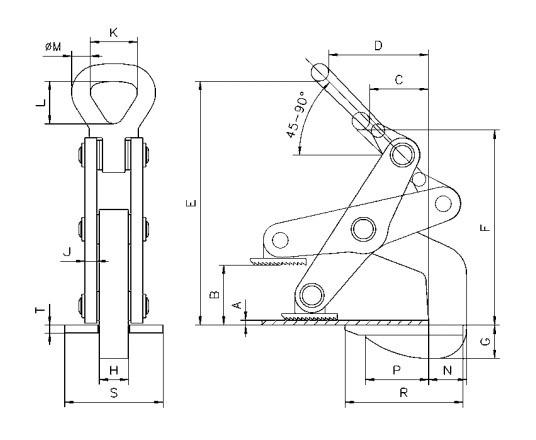 TWH technische tekening
