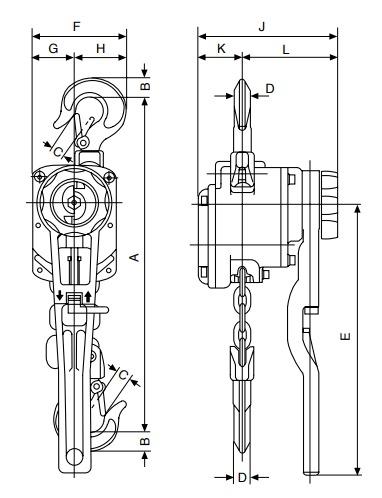 AL technische tekening