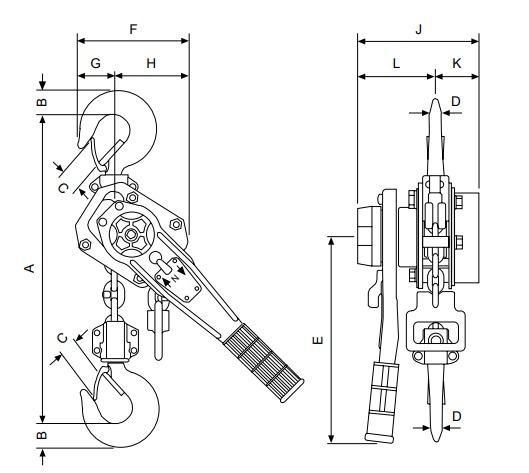 PT technische tekening